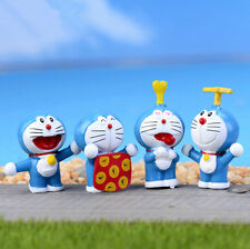 4pcs/lot Anime Doraemon Miniature Figurines Toys Cute Lovely Model Kids Toy