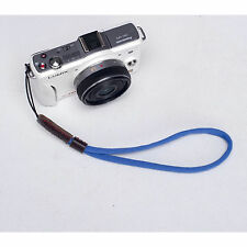 Blue Camera Nylon Hand Wrist strap For Canon Nikon Panasonic Sony Fuji Samsung