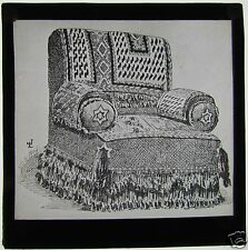 Glass Magic lantern slide DRAWING OF A CHAIR  C1900 NUMBER 1 FURNITURE