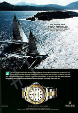 ROLEX OYSTER PERPETUAL YACHT MASTER Watch ADVERT 2007