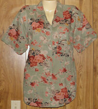 B. Bronson Womens Casual Shirt Button Up Top Blouses Sz L #2247
