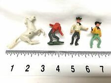 1950s Plastic Cowboys with Horse and Removable Accessories 4 Figures