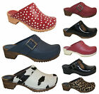 Sanita Clogs 25 Styles and Colours Womens Professional Leather PU Patent Fur