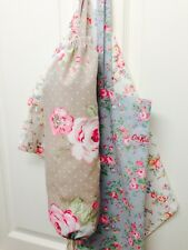 ❤Clarke & Clarke Taupe English Rose Fabric Carrier Bag Holder❤️