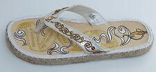 BABY PHAT ESPADRILLE THONGS SANDALS WHITE sz 8 NEW AUTHENTIC SUPER DEAL