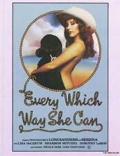 EVERY WHICH WAY SHE CAN Movie POSTER 27x40 Mike Horner Loni Sanders Serena Lisa