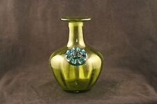 Blenko Vase with Flower Rossette Prunt No Stopper