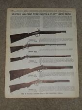 1940 Muzzle Loading Precussion & Flint Lock Guns Price List AD Catalog Page
