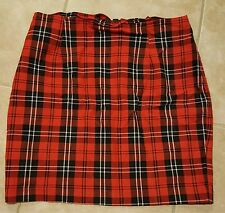 BETSEY JOHNSON SEXY RED PLAID STRETCH MINI SKIRT PUNK MEDIUM