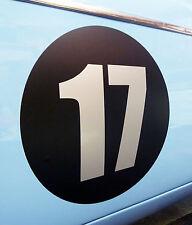 CLASSIQUE VINTAGE VOITURE COURSE RALLYE NOMBRES 30cm PAIRE MG MGA MGB TRIUMPH