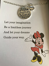 Disney Minnie Mouse Necklace w/ poem