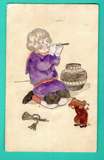 BY GUTMANN BOY AND TEDDY BEAR # 5 VINTAGE POSTCARD PUBLISHER RUSSIA USED 244