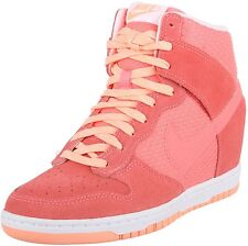NEW NIKE Dunk Sky High HI ESSENTIAL sz 12 PINK LAVA GLOW WEDGE SHOES HEEL