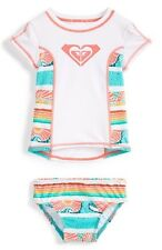 Roxy -6-  Girls 2 Pc Rash Guard Tankini Swimsuit Sea You Soon Tropical Bikini