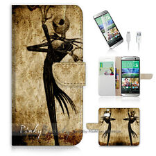 HTC ONE M8 Print Flip Wallet Case Cover! Nightmare Before Christmas P1369