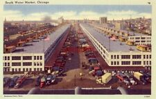 one of the city's busiest wholesale districts SOUTH WATER MARKET, CHICAGO 1943