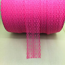 Beautiful~10 Yards Bilateral Handicrafts Embroidered Net Lace Trim Ribbon Rose