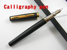 Duke Calligraphy Fountain Pen Matte Black 22KGP calligraphy Nib Without Box 209
