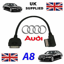 NEW EDITION AUDI A8 2014 4F0051510R iPhone iPod AUDIO VIDEO CABLE RED