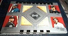 2002 DIAMOND CONNECTION QUAD CARD bataround BERNIE LEITER ALOMAR VENTURA BA-WLAV