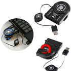 Mini Vacuum LED USB Cooler Air Extracting Cooling Pad Fan for Notebook Laptop PC