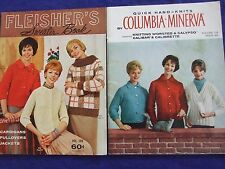 2 VINTAGE50S/ 60S COLUMBIA MINERVA CARDIGANS/COATS/SWEATER KNITTING PATTERN BOOK