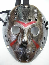 Jason Voorhees Friday 13th Plata Hockey Halloween Máscara de terror de plástico