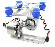 2 Axis Aluminum Brushless Camera Mount Gimbal for DJI Phantom Gopro 2 3 W/ motor