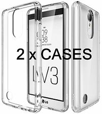 2 x Pieces - Transparent Clear TPU Rubber Case Cover for LG ARISTO MS210 / LV3