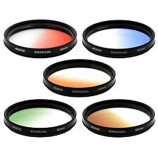 Albinar 52mm Graduated Gradual Color Filter KIT - Red Blue Orange Green Brown