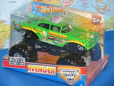 1/24 HOT WHEELS MONSTER JAM AVENGER TRUCK GREEN FLAMES 30th ANNIVERSARY NEW VHTF