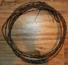 Vintage Antique 4 foot piece of Barbed Wire  Barb Wire Barbwire Bobbed Old!