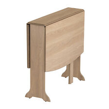 Drop Leaf Table HEATPROOF Folding Dining Kitchen Gateleg Seats 6 D-End Oak
