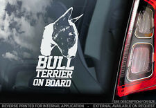 Bull Terrier - Car Window Sticker - Dog Sign -V03