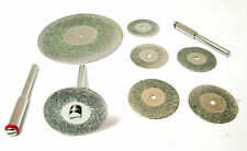 "6pc Mini Diamond Cutting Disc & 2"" Diamond Coated Cut Off Disc  HB209 / HB263"