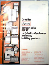 Vtg SEARS Kenmore Appliances Catalog RETRO Kitchen Ranges Oven Refrigerator 1976