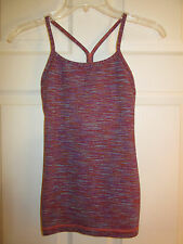 LULULEMON POWER Y TANK WE ARE FROM SPACE MANIFESTO LINING BUILT IN BRA~2