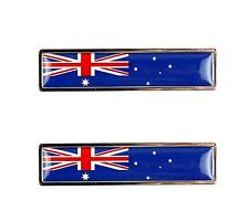 Chrome AUSSIE FLAG Badge for: FORD FALCON GT HOLDEN MONARO COMMODORE VALIANT V8