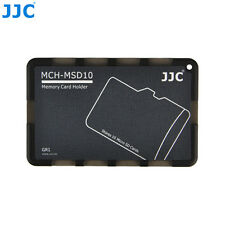 """JJC 0.1"""" UltraSlim Credit Card size Memory Card Holder for 10 Micro SD MSD Cards"""