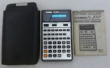 Calculator Casio FX-201P with soft case and instruction manual