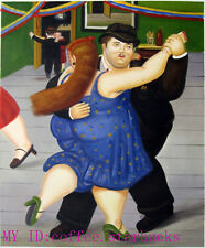 "Art Repro oil painting:""Fernando Botero Portrait at canvas"" 24x36 Inch #003"
