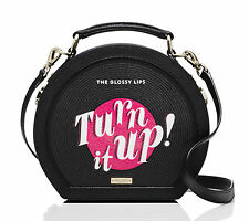 KATE SPADE Jazz Things Up Record Case Crossbody Bag Clutch Black $378 NWT