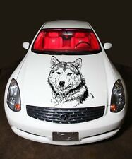 Car Hood Vinyl Sticker Graphics Wolf Dog Animal G172