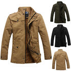 Fashion Mens Casual Jacket Winter Warm Outwear Slim Fit Coat Fleece Overcoat Top