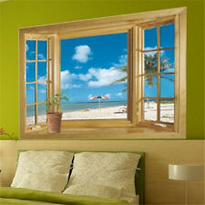 Funny Removable Design Window Beach Wall Stickers Decal Art Mural For Home Decor