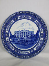 Antique Royal Doulton White House Washington DC Souvenier Plate Blue & White