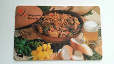 SINGAPORE VINTAGE PHONE CARD LOCAL DELICACY - BEER BREAD STEW POT