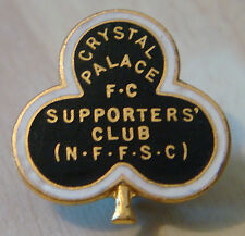 CRYSTAL PALACE Rare vintage SUPPORTERS CLUB Badge Maker H.W MILLER Brooch pin