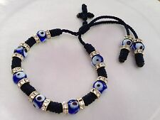 Blue bracelet for protection and good luck away the evil eye handmade