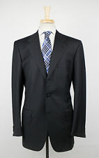 New. BRIONI Palatino 21 Black Wool 3 Roll 2 Button Suit Size 52/42 R $7595